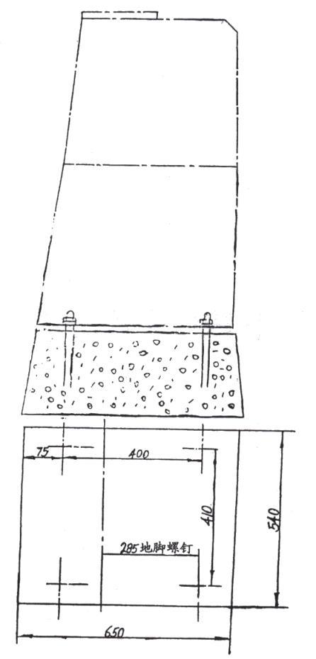 EP系列额式破碎机安装尺寸图