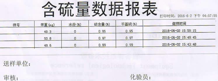 測硫儀批量打印報表