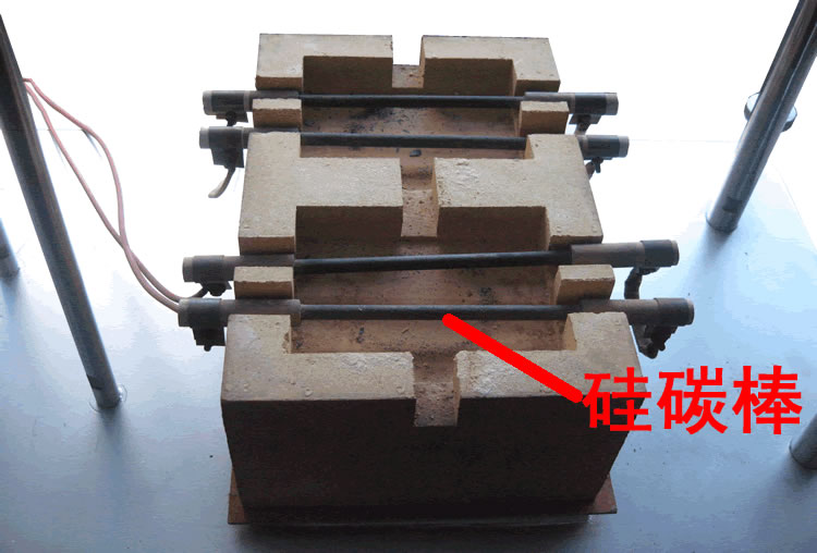 硅碳棒在胶质层测定仪中的位置